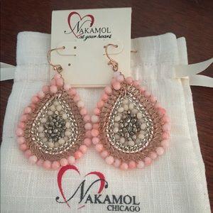 Nakamol Chicago Pink Beaded Earrings